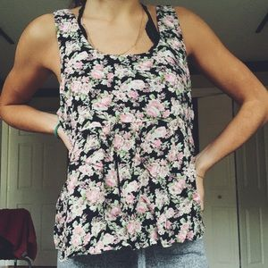brand new floral tank top